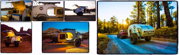 """Specially built for """"Off The Grid Rentals"""" is the SoCal Teardrop's """"Krawler"""" with 35 inch Falken All-Terrain tyres on Method Race Wheels. A full size mattress provides sleeping space for 2 adults & with the addition of an optional roof top tent, you've space for 5. Take the family & have a comfortable spot for everyone.    http://rentoffthegrid.com/off-road-teardrop-trailer/"""