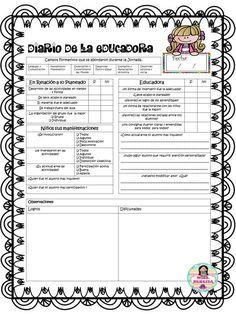 Excelente diario de la educadora simplificado   Educación Primaria