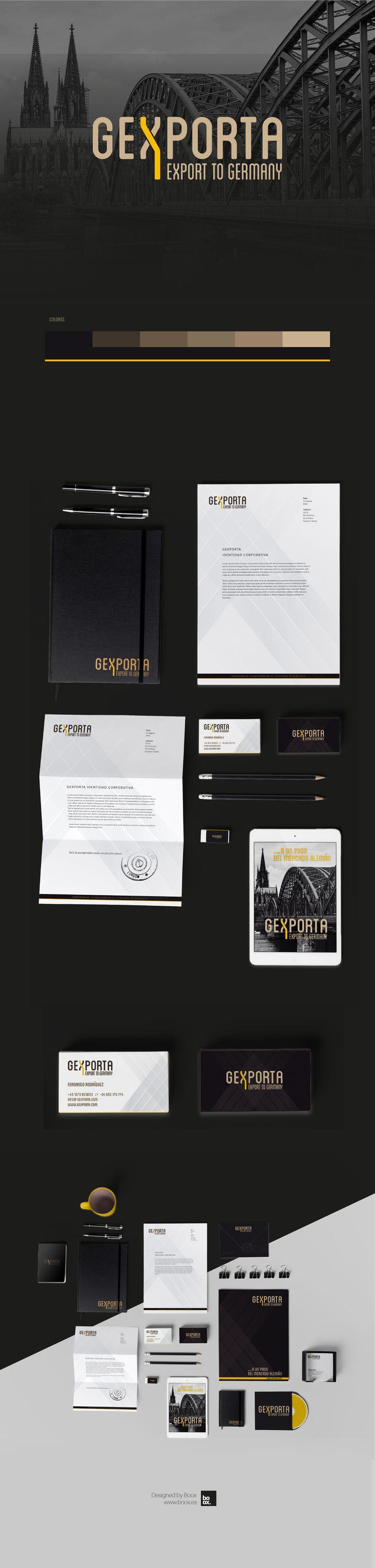 Proyecto de identidad corporativa realziado para Gexporta.