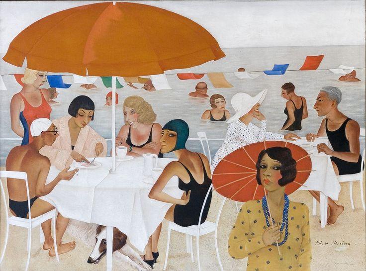 Milada Maresova (1901-1987), Plovarna (Outdoor Bathing),1927, oil. Photo: Lucie Mlynarova, courtesy Moravska Galerie Brno