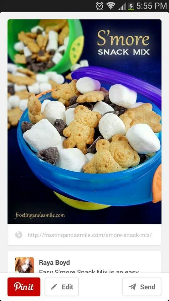 S mores snack mix, this would be very cute as a teacher to student gift!! S'more learning next year, or Don't forget to read S'more this summer!  Teddy grahms, chocolate chips, and a bag of mini marshmallows. Whole class snack for under $10!