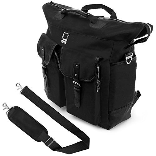 Lencca Universal Hybrid 3 in 1Design Carrying  Tote  Messenger  Crossbody  Backpack  Shoulder Bag for Acer Aspire V15 VN7591G  Aspire E E5521  E5571  ES1512 Series 156 inch Fit up to 156 inch Notebook  Google Chromebook  Ultrabook  Laptop Black >>> Be sure to check out this awesome product.