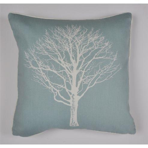 Fusion Woodland Trees Cushion Cover 43x43cm - Duck Egg Blue