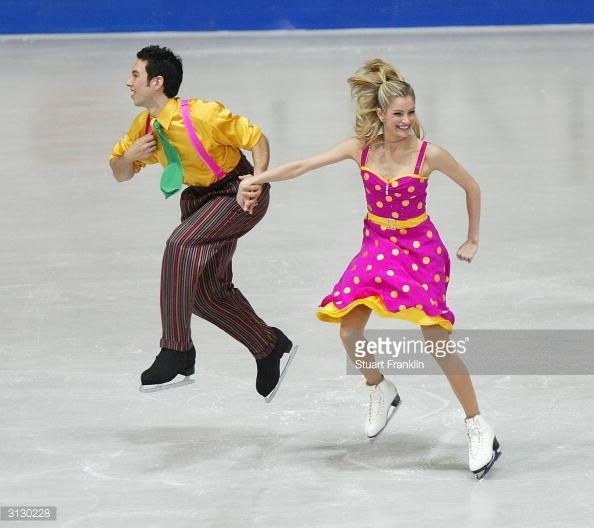 DORTMUND, GERMANY - MARCH 25: Tanith Belbin and Benjamin Agosto of USA in action during the original ice dance section at The 2004 World Figure Skating championships at Westfalenhalle March 25, 2004 in Dortmund, Germany. (Photo by Stuart Franklin/Getty Images)