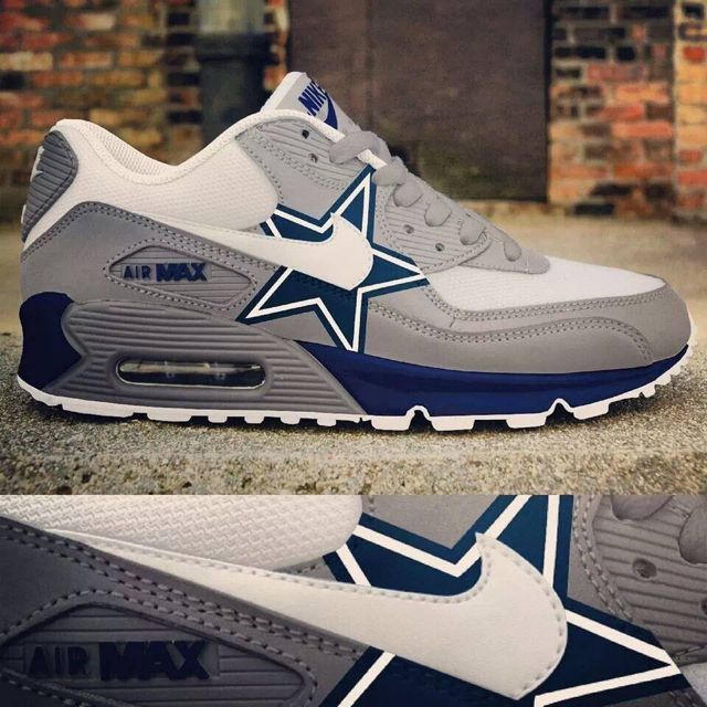Nike Dallas Cowboys Air Max 90 Men& Women New Release