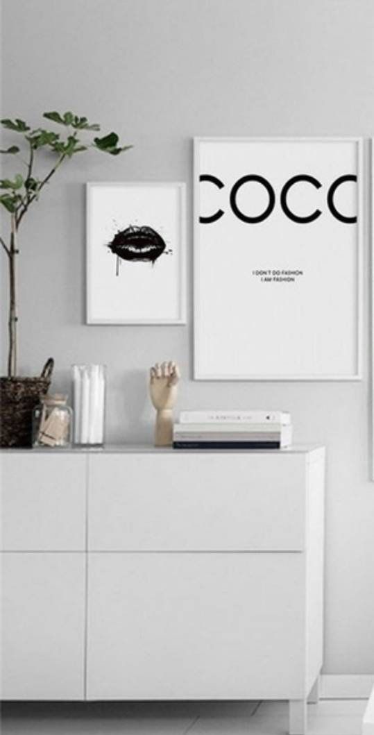 Fashion Canvas – Coco Art Print – Black And White Wall Art – Minimalist Home Decor Art