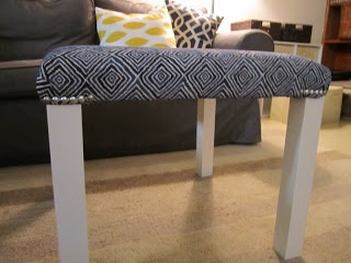 DYI Ottoman from Ikea Lack table