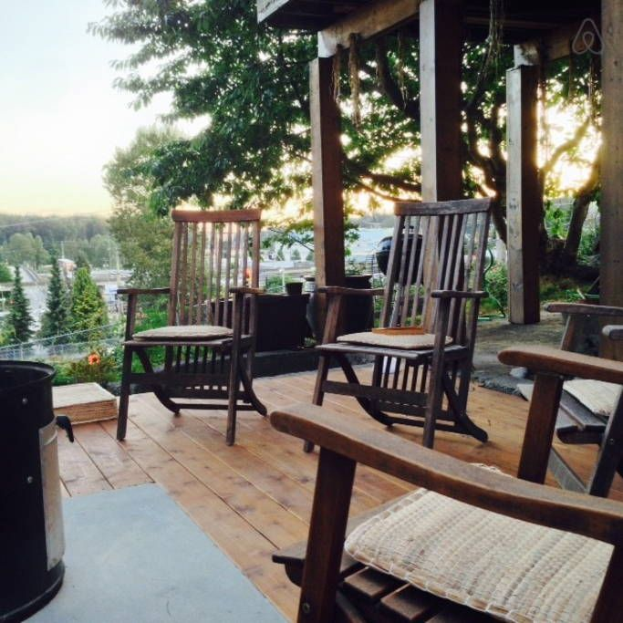 The deck is good for sunsets.