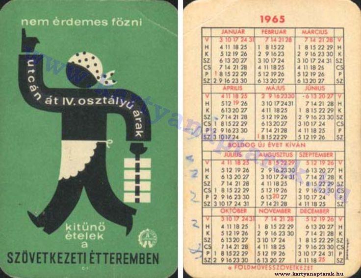 1965 - 1965_0179 - Régi magyar kártyanaptárak
