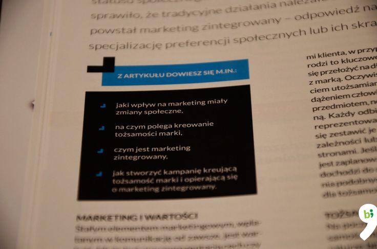 Przypominamy, że w aktualnym magazynie Marketer+ piszemy o marketingu zintegrowanym w służbie tożsamości marki!  www.marketerplus.pl/teksty/artykuly/marketing-zintegrowany-sluzbie-tozsamosci-marki/