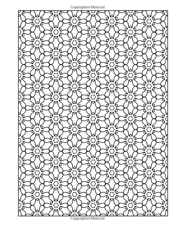 Repeating Patterns Coloring Book Unique