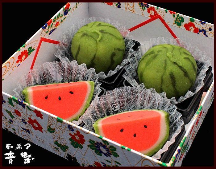 Japanese Sweets Wagashi, 麻布青野総本舗 : 上生菓子「西瓜♡