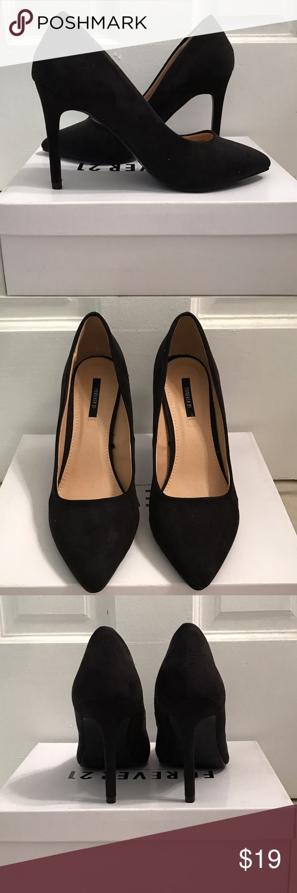 Black Suede Pumps Brand new black suede Pumps. 3 inch heel. Forever 21 Shoes Heels