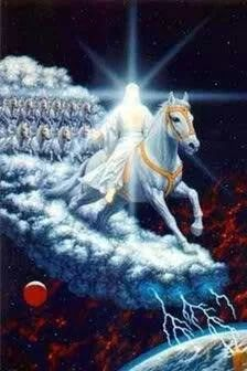 Photo: #79 REVELATION SERIES ETERNAL LIFE OR THE ETERNAL ABYSS THE WHITE HORSE RIDER  ▪▪▪▪▪▪▪▪▪▪▪▪▪▪▪▪▪▪▪▪▪▪▪▪▪ ▪▪▪REVELATION 19:11-16▪▪ (KJV) ▪Revelation 19:11 And I saw heaven opened, and behold a white horse; and he that sat upon him [was] called Faithful and True, and in righteousness he doth judge and make war. ▪Revelation 19:12 His eyes [were] as a flame of fire, and on his head [were] many crowns; and he had a name written, that no man knew, but he himself. ▪Revelation 19:13 And he…