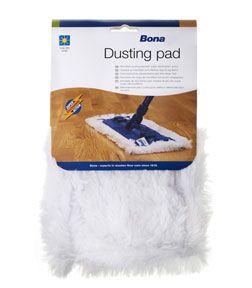 Bona Stofpad  Stof verwijderen (voor houten vloeren en harde vloeren)    Microvezel stofpad met elektrostatische werking.    Voor onder de Bona Mop of Bona Spray Mop.    Deze Stofpad is wasbaar.