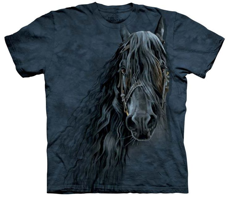 free usa shipping unisex horse t-shirt forever Friesian color black women's  or men's preshrunk cotton size small stonewashed multicolored preshrunk  cotton ...