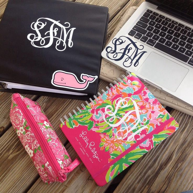 Monogrammed school supplies //                              …