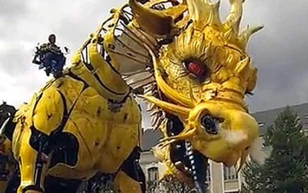 The city of Nantes becomes home to a giant, moving, fire-breathing dragon