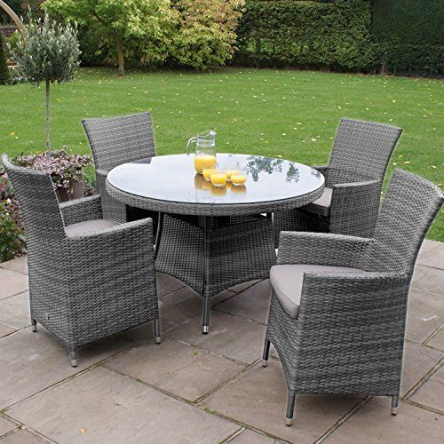 Rattan Garden Furniture Grey rattan garden table and 4 chairs - deviprasadregmi