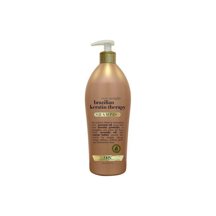 Ogx Salon Size Ever Straight Brazilian Keratin Therapy Shampoo - 25.4oz