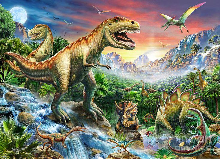 Jurassic Landscape by Adrian Chesterman