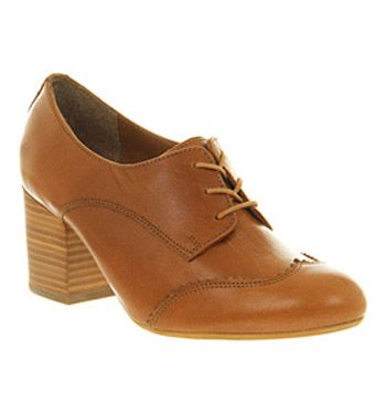 Office Freddy Tan Leather - Mid Heels size 6