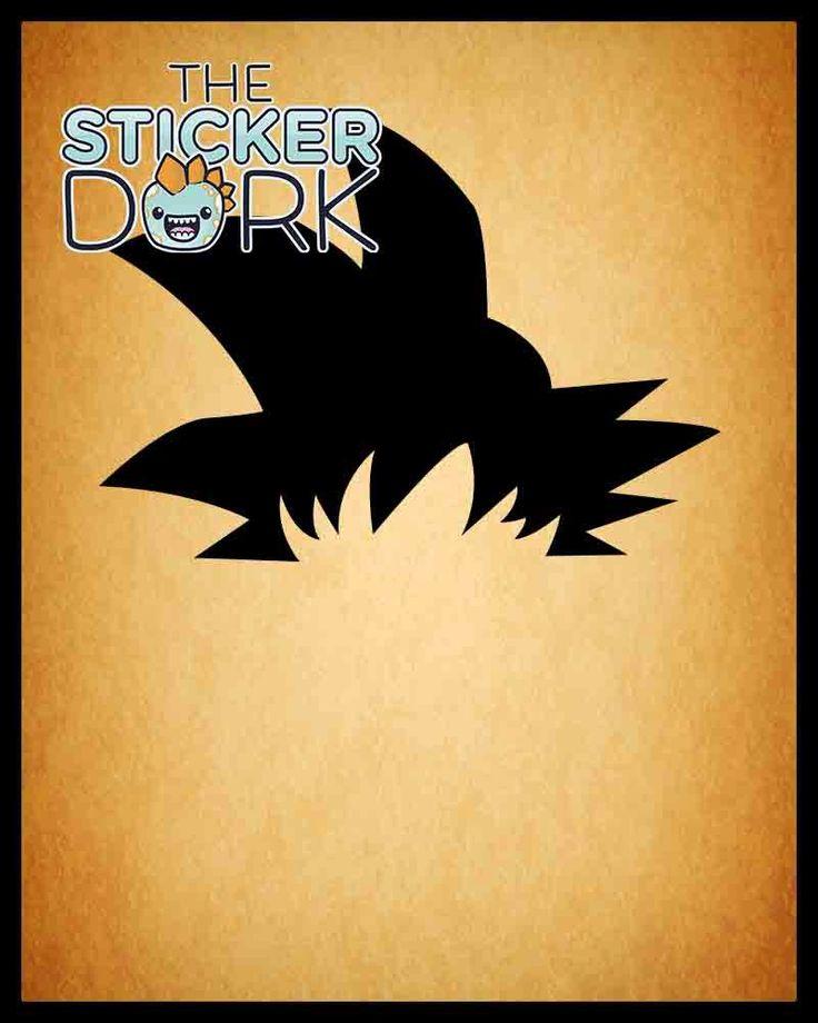 Goku Hair Dragonball Z and Super Vinyl Decal * Original Design * Gokufy Your Stuff! by StickerDork on Etsy