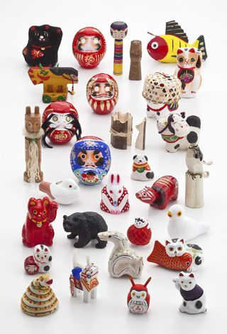 Japanese trinkets, good luck charms etc.