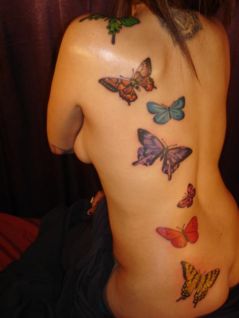 Butterfly tattoos, I'd like to have this..