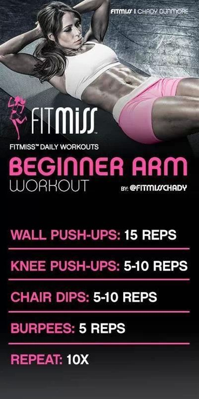 Uuuhhh minus the burpees of course. Beginner arm workout