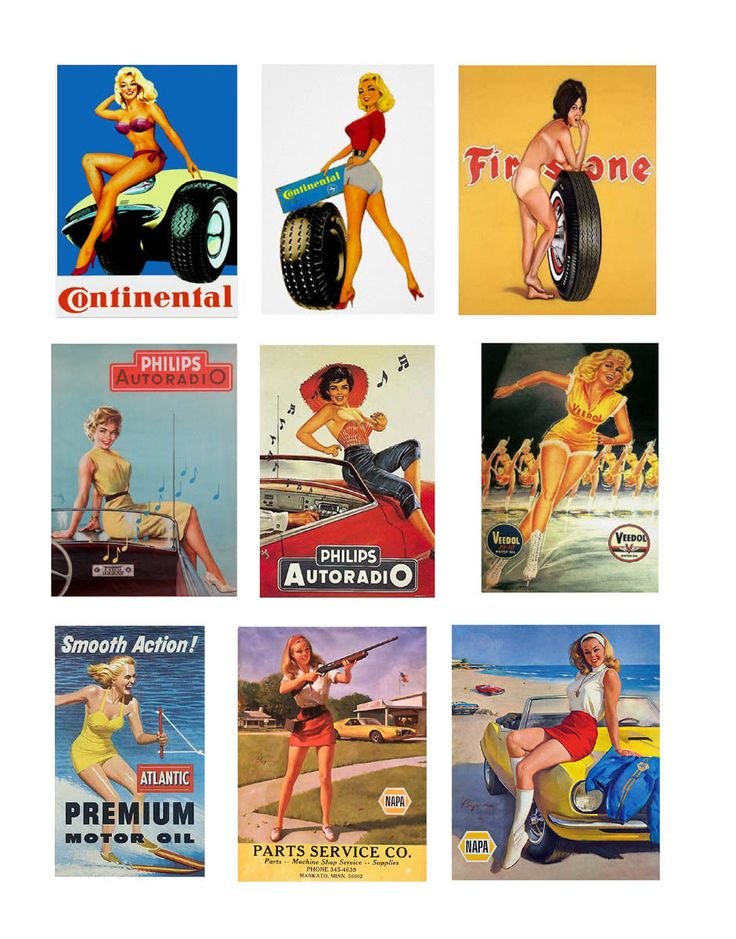 1:25 1:22 G scale model car auto shop garage pin up posters tires parts