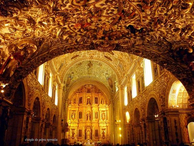 Oaxaca, Oaxaca, México. Santo Domingo de Guzmán Church, the best example of the Mexican Barroco Art.