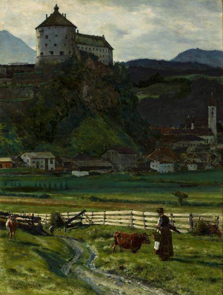 Widok okolic zamku Kufstein II - Aleksander Gierymski
