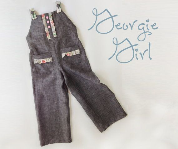 SALE Georgie Girl Coverall - PDF Pattern  Girl Toddler Sewing Pattern Sizes 1yr - 8ry