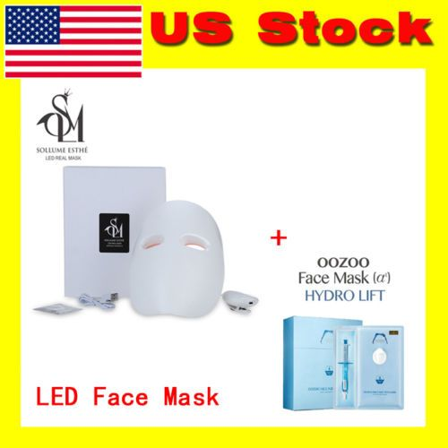 Skin Rejuvenation LED Photon Facial Mask with Face Injection Mask Korea Cosmetic