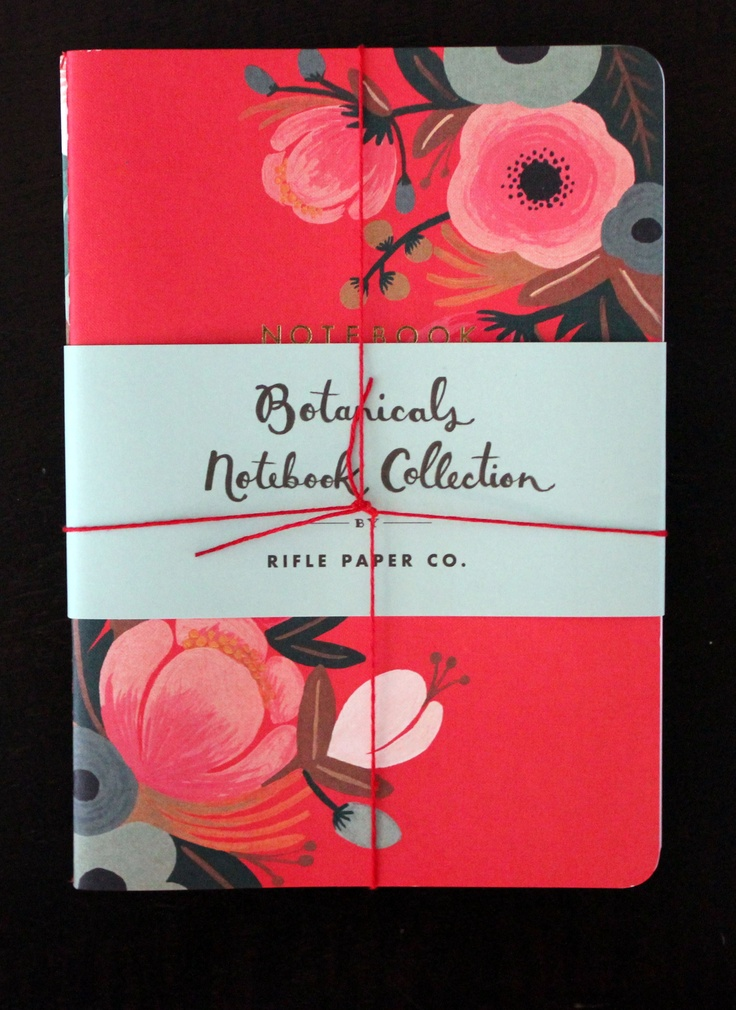 Botanical Notebooks by Rifle Paper Co. love love love the fonts and prints