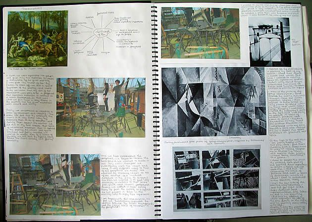 20 creative sketchbook examples to inspire high school Painting / Fine Art students