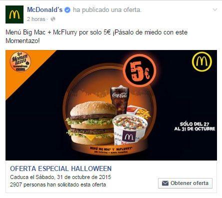 Menú Big Mac + McFlurry por solo 5€ ¡Oferta de Halloween en McDonald's! | Buscagangas.es | Sorteos, concursos, muestras gratis, promociones
