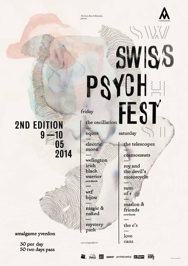 SWISS PSYCH FEST 2 - Gaël Faure Graphic Design