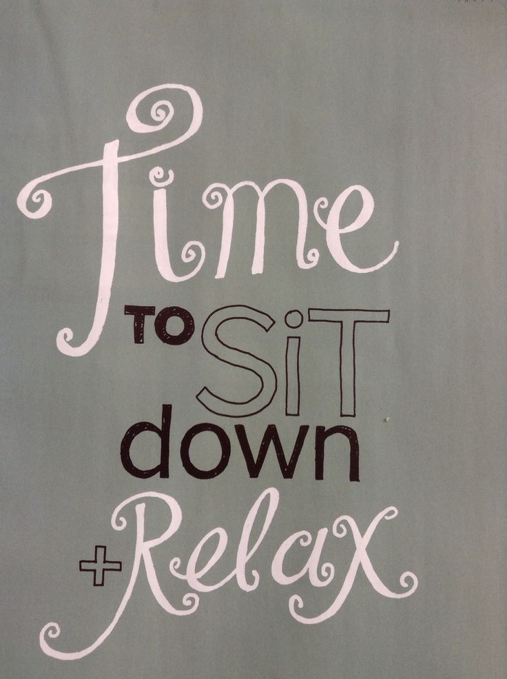 Time to sit down + relax - VT Wonen -