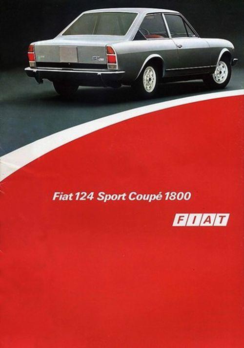 Fiat 124 Sport Coupé - depliant