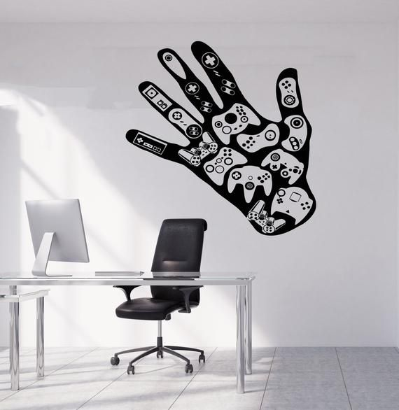 Gamer Wall Decal Gamer Decals  Controller Decals Personalized Gamer Room 2899