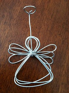 Wire angel ornament or photo holder