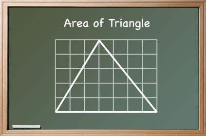 area of triangles lesson sequences, ways to 'teach' and explain to students about the formula to work out area of a triangle, 1/2 base x height and why it is '1/2'.