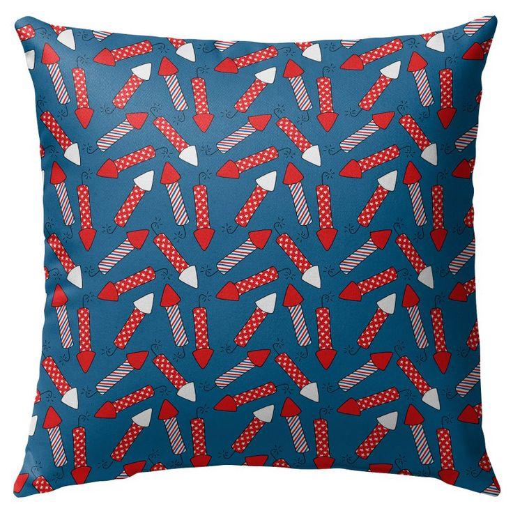 Kavka Designs Firework Rockets Outdoor Pillow - OPI-OP16-16X16-NOR213