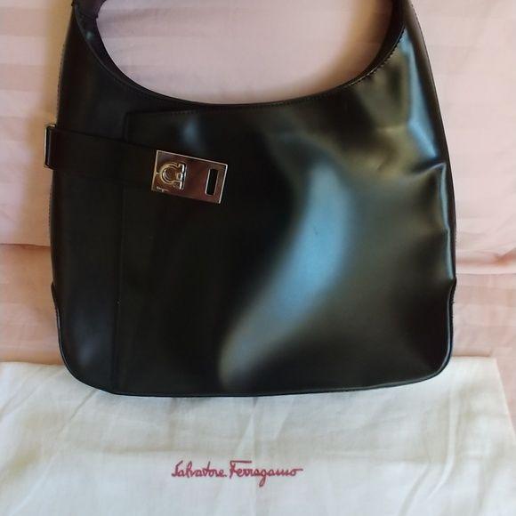 62861e043d Salvatore Ferragamo handbag Black Gancio hobo bag with dust bag Salvatore  Ferragamo Bags Hobos
