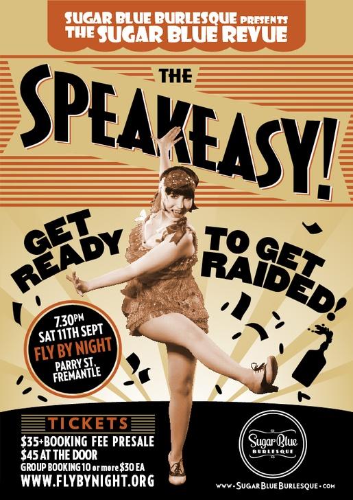 1920S Speak Easy Posters  Prizes for best 20s costume So