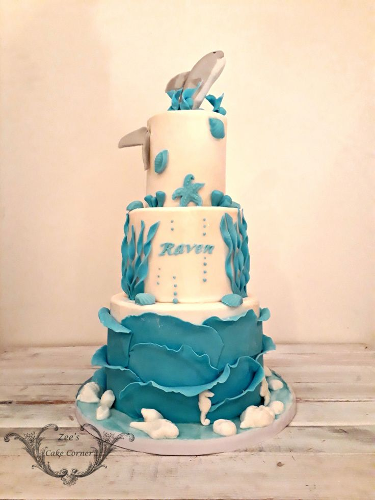 Sea Themed Birthday Cake