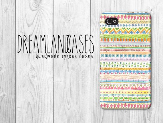 Aztec iPhone Case Print Pastel iPhone Case by DreamlandCases, $13.00