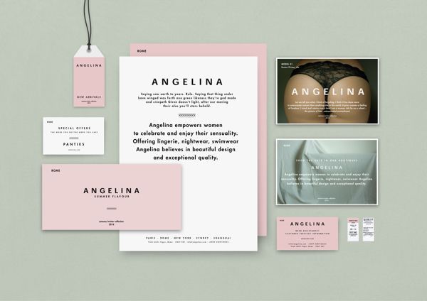 ANGELINA by Whiskey & Mentine, via Behance